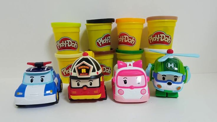 Playing Colors for Cooking  Play Doh and Robocar Poli &  로보카폴리 플레이도우 피자 만들기