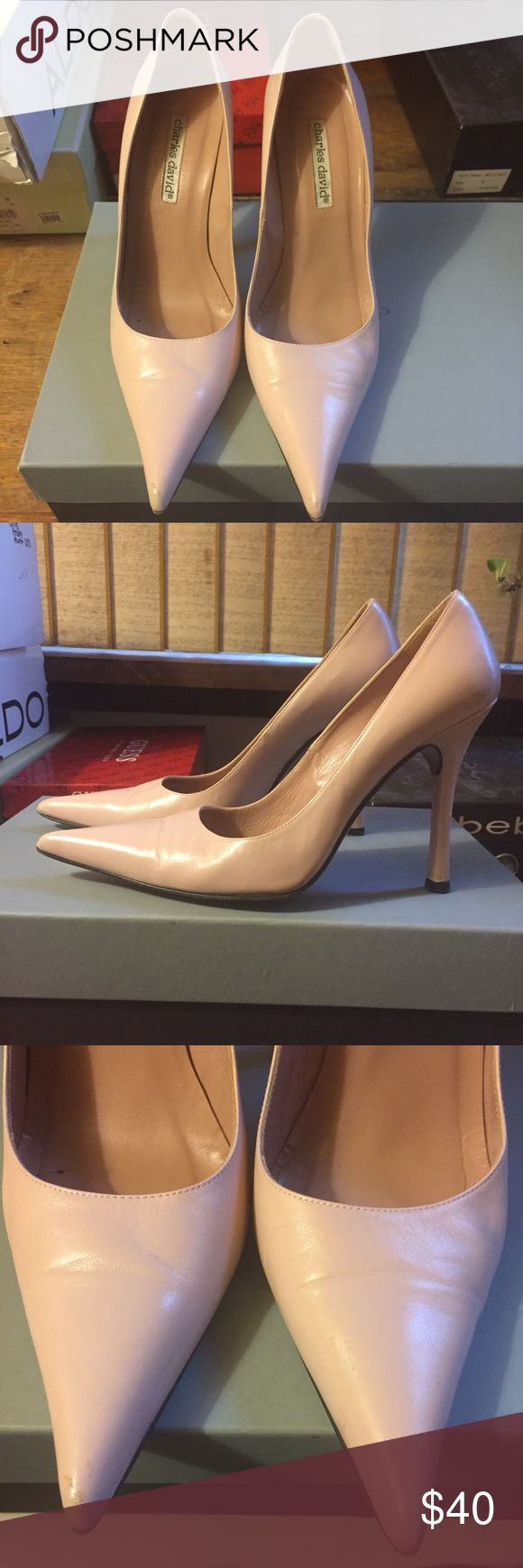 Charles David pumps Light pink Charles David pointy toe pumps Charles David Shoes Heels