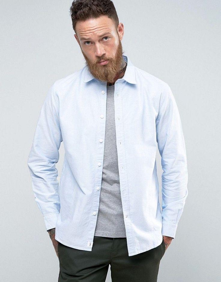EDWIN CADET BLUE OXFORD SHIRT - BLUE. #edwin #cloth #