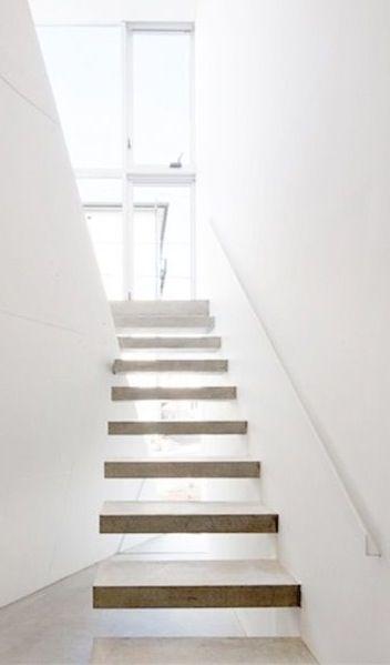 Bright open stairwell