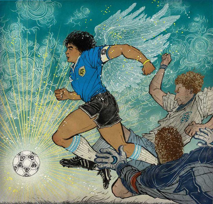 Yuko Shimizu - 8by8 Maradona's famous goals - yuko shimizu diego maradona eight by eight goal of the century