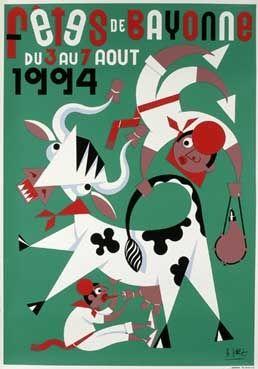 Affiche des fêtes de Bayonne en 1994