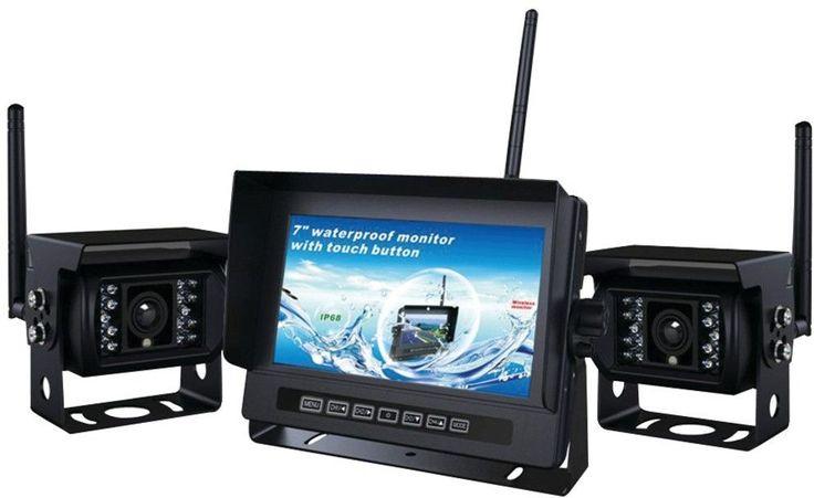 2-Channel, 2.4GHz Digital Wireless RV Backup Camera System