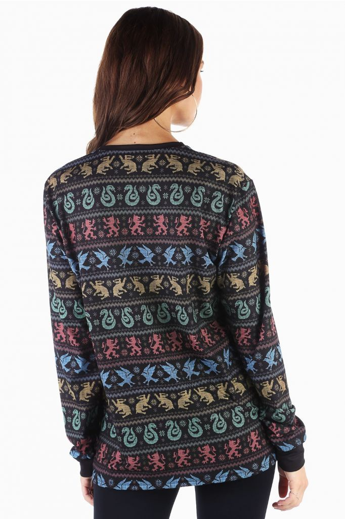 5606c32523f All Houses Christmas Sweater Long Sleeve BFT