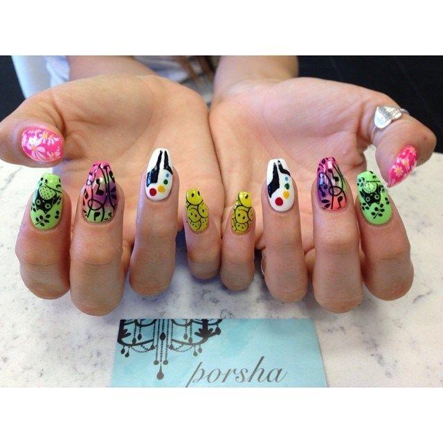 edc nails salon fanatic music festival nail art