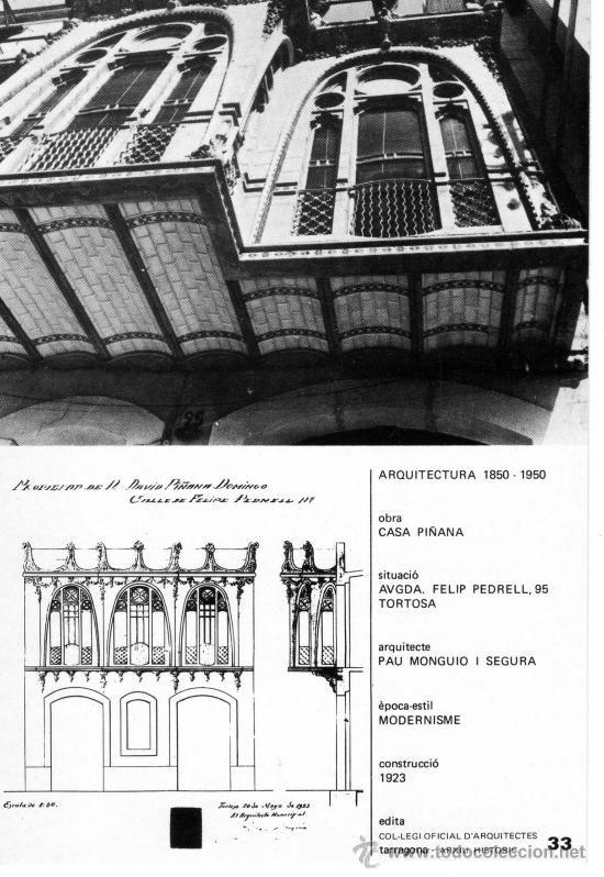 Casa Pinyana - tortosa - tarragona (Postales - España - Cataluña Moderna (desde 1940))