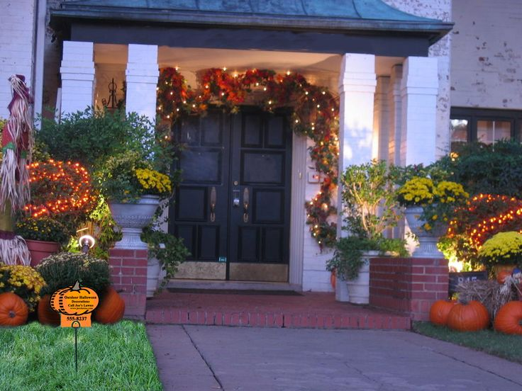 outdoor fall decorations outdoor halloween decorations and lawn care marketing idea - Halloween Decorations Outside