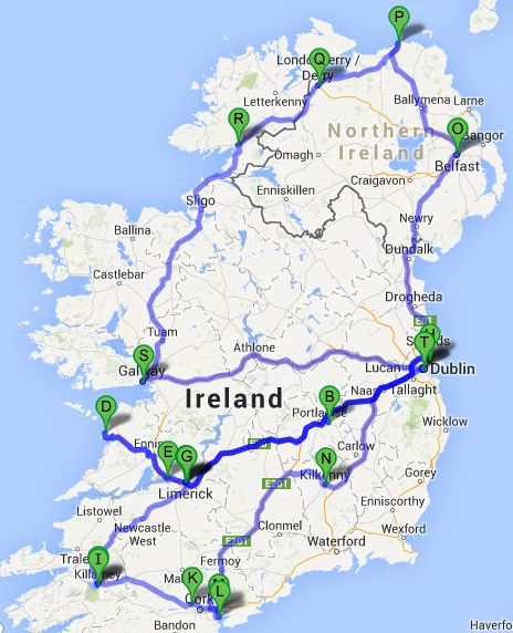 Ultimate Irish Road Trip Guide: See Ireland In 12 days #ireland #roadtrip Pin It for your future Ireland road trip. Travel.