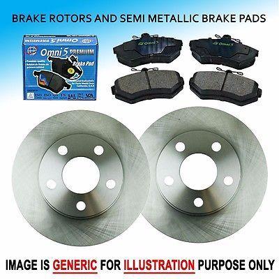 FK0292 Fits 2009-2013 Toyota Corolla 2.4L Front L + R Brake Rotors & Pads Set