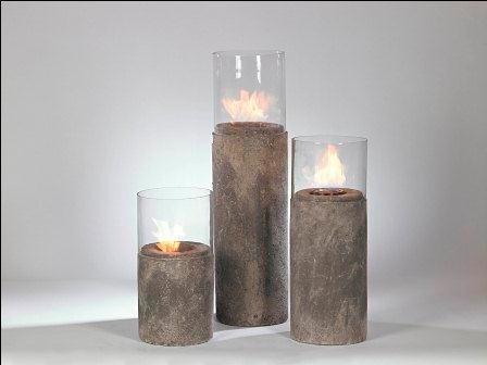Cement flor candles