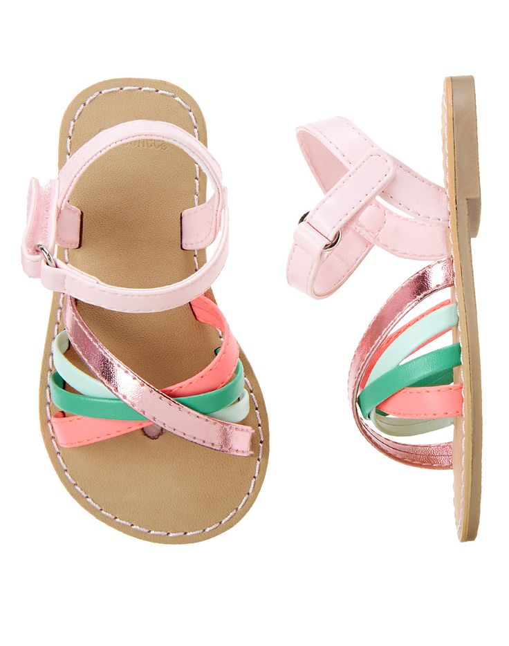 Tropical Strappy Sandals: $19.77, available in sizes 5 to 10 & 4. Gymboree: $, local Cville franchise