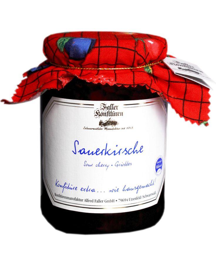 Sauerkirsch-Marmelade aus der Konfitüren-Manufaktur Faller