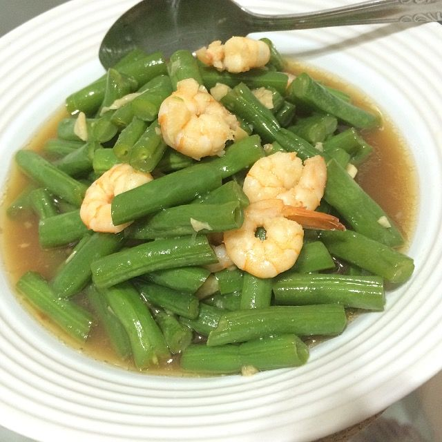 Green beans with shrimp 🍤 Masakan Rumahan