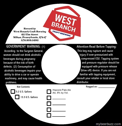 West Branch Brewing Co Coming to Milton, PA–Hopcore Pale Ale