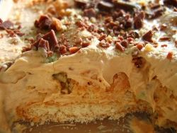 Peppermint Crisp pudding -- OMG if you have never had this before... It's AMAZING!!!!! Haven't had this for years.  Definitely making it this weekend!