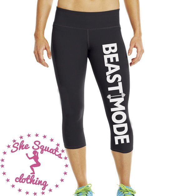 BeastMode Performance Workout Capris. Fitness by SheSquatsClothing
