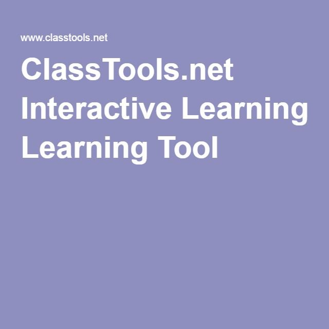 ClassTools.net Interactive Learning Tool