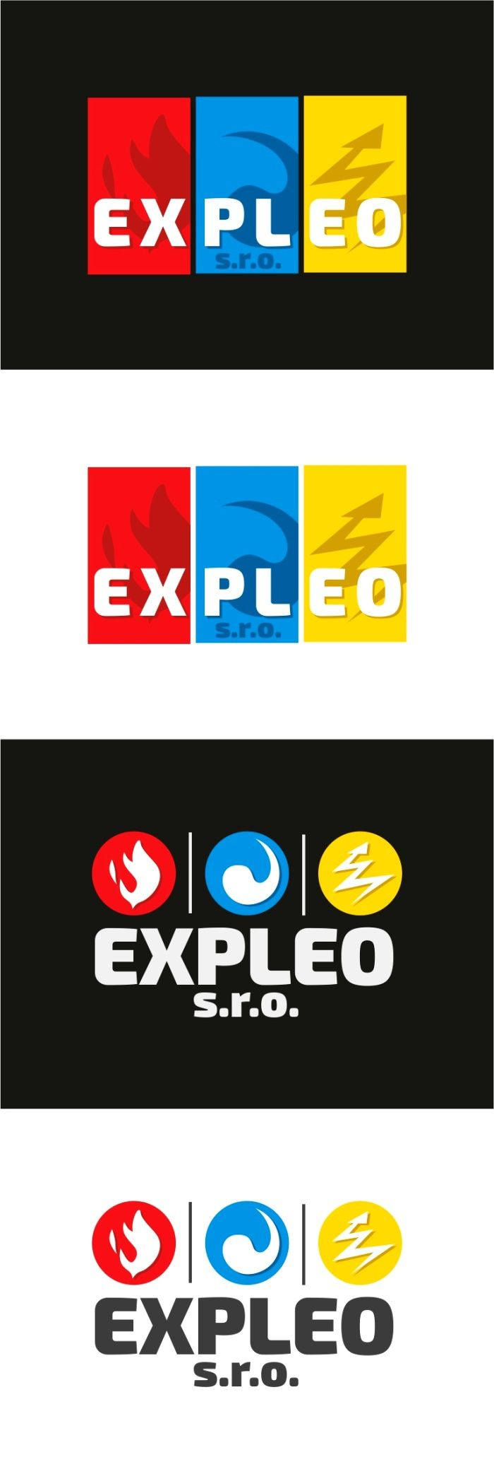 """Podívejte se na můj projekt @Behance: """"logo Expleo - water,  electricity, fire"""" https://www.behance.net/gallery/43341077/logo-Expleo-water-electricity-fire."""
