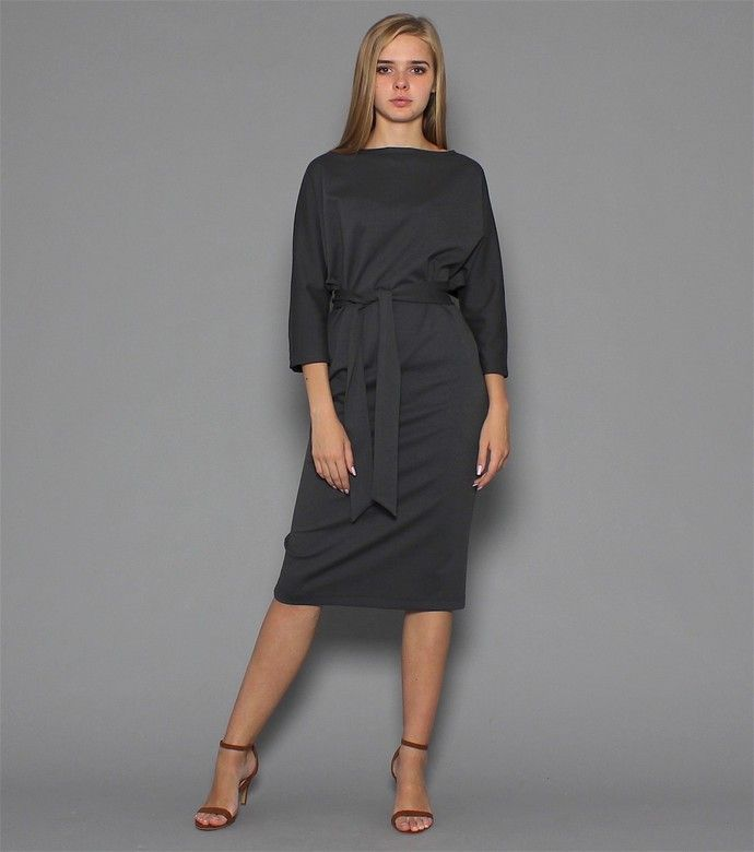 Базовое платье maybe ... цвета графит