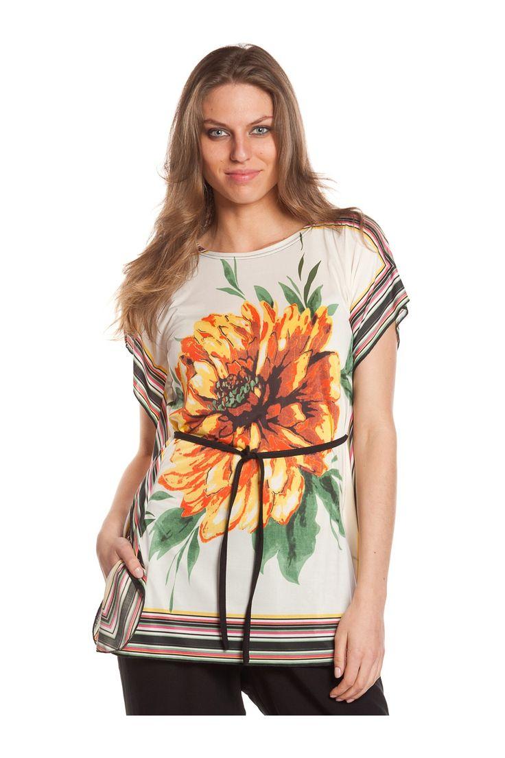 Túnica (1) estampada. - MUJER   Rosalita McGee #flores #tunicaflores #estampadofloral #flowers #modaprimavera #springstyle #tunic