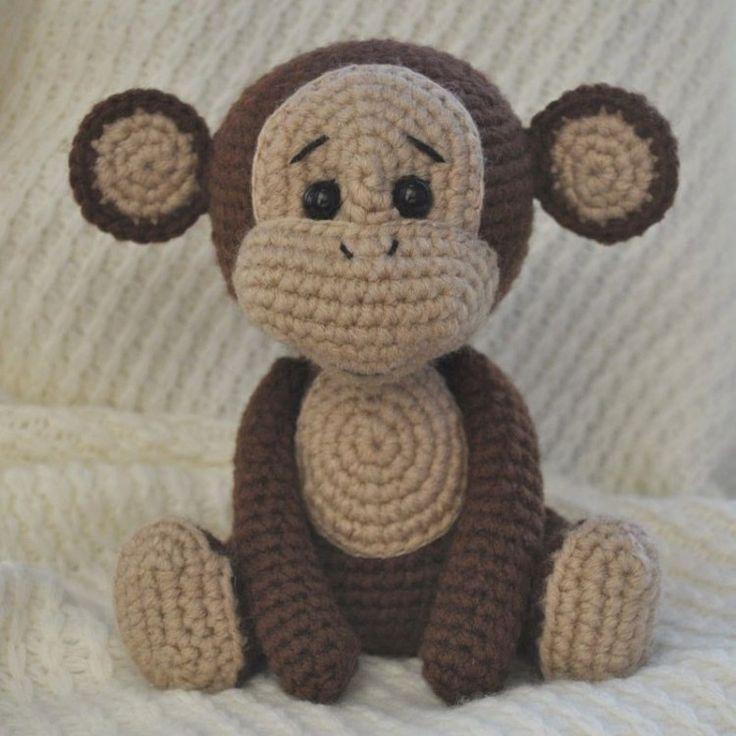 Cheeky Monkey Amigurumi Crochet Pattern : Oltre 1000 idee su Scimmia Fatto Alluncinetto su ...