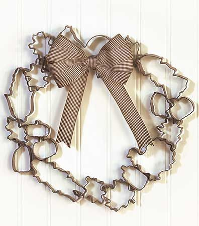 Metal Cookie Cutter Wreaths