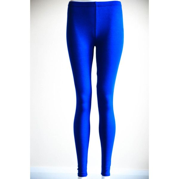 Royal Blue Soft Stretchy Leggings Pants Tights ($20) ❤ liked on Polyvore featuring pants, leggings, black, women's clothing, stretchy pants, royal blue pants, electric blue pants, black stretch leggings and stretch trousers