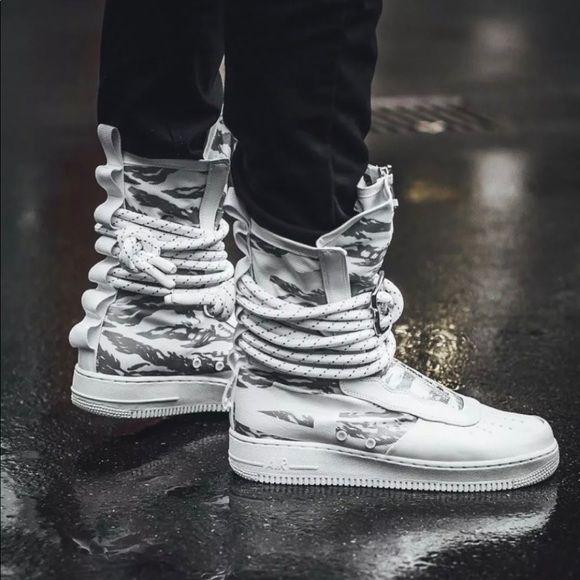 Sold Sf Af1 Hi Prm High Spc Field Air Force 1 Winter Camo Sneakers Men Fashion Nike Sf Af1