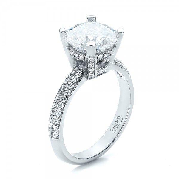 Nice Custom Diamond Engagement Ring