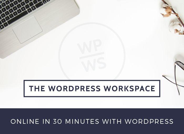DIY Web Design – The WordPress Workspace - online in 30 minutes. Online course.
