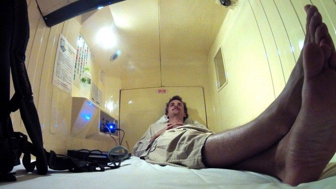 Started off hardcore with a few nights at a capsule hotel in Shinjuku