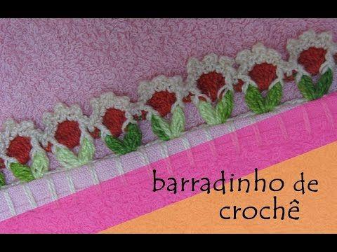 Barrado floral delicado em crochê#DESTROS - CROCHÊ 19 - YouTube