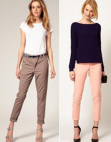 С чем носить укороченные летние брюки?