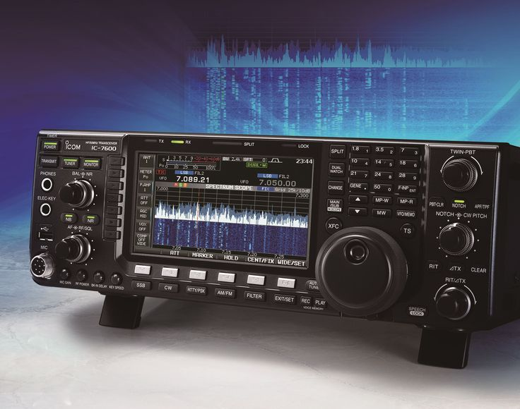 Neat picture of the IC-7600 HF Amateur radio Transceiver which recently had a Firmware Update. More details: http://www.icomuk.co.uk/News_Article/3508/18454/ #icom #hamradio