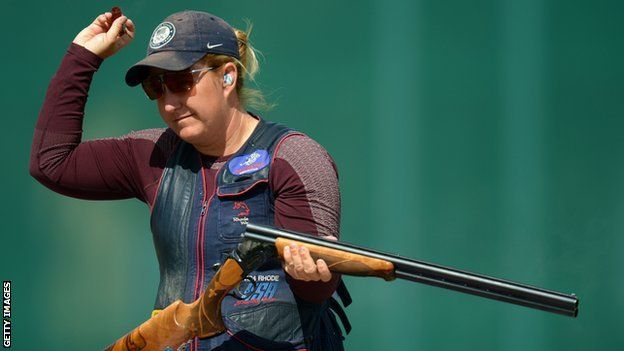 Kim Rhode: first American to win individual medals at five straight Olympics (never watched skeet shooting before and now I'm hooked)