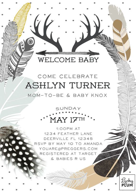Couple Coed Baby Shower Invitation / Gender By LuckyPlumStudio