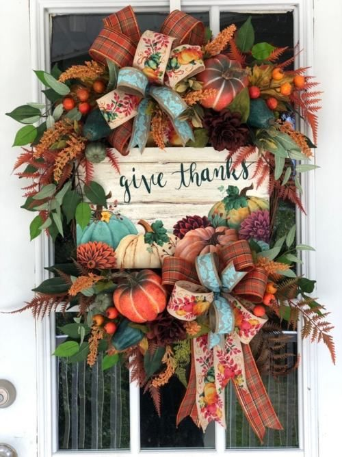 50 Unique Thanksgiving Wreath Ideas To Decorate Your Door Diy Thanksgiving Wreath Fall Wreath Colorful Fall Wreaths Thanksgiving Wreaths