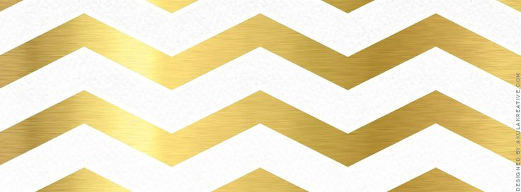Gold Chevron Facebook Cover Photo // Free Download