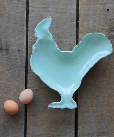 Another great find on #zulily! Aqua Rooster Plate #zulilyfinds #LGLimitlessDesign & #Contest