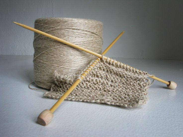 """Sponges"" knitted from hemp yarn.                              …"