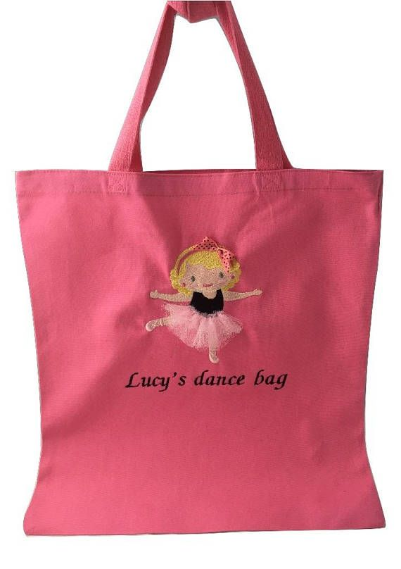 Dance Bag Personalized, Dance Bag, Ballet Bag, Dance Tote, Ballerina Bag, Black Ballerina Bag, Pink Ballet Bag, Personalized dance Bags