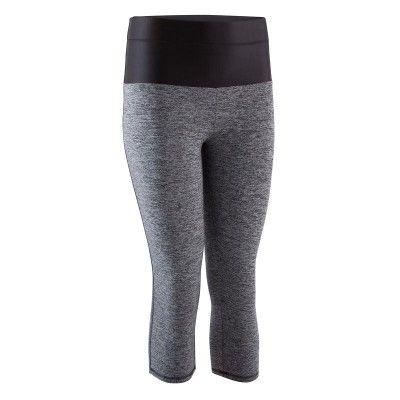 Dámské 3/4 legíny SHAPE + Fitness černo-šedé