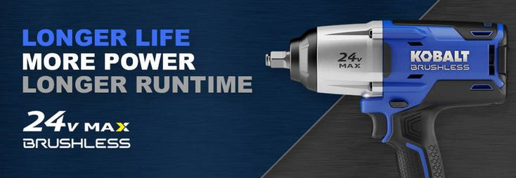Shop Kobalt 24-Volt Max 1/2-in Drive Cordless Impact Wrench (1 Battery Included) at Lowes.com