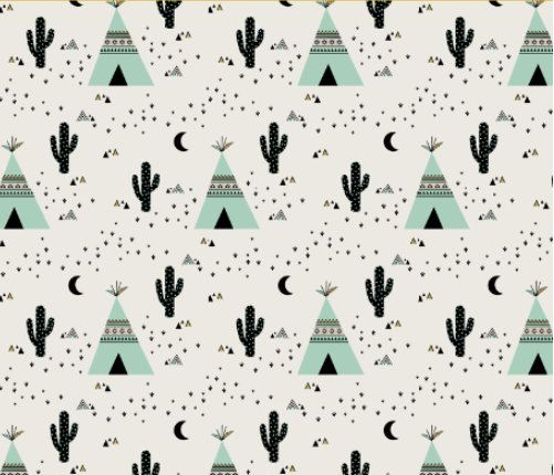 Spoonflower's Teepee Mint fabric designed by Kimsa - printed on a variety of cotton fabrics - by the yard by Spoonflower on Etsy https://www.etsy.com/listing/261330009/spoonflowers-teepee-mint-fabric-designed