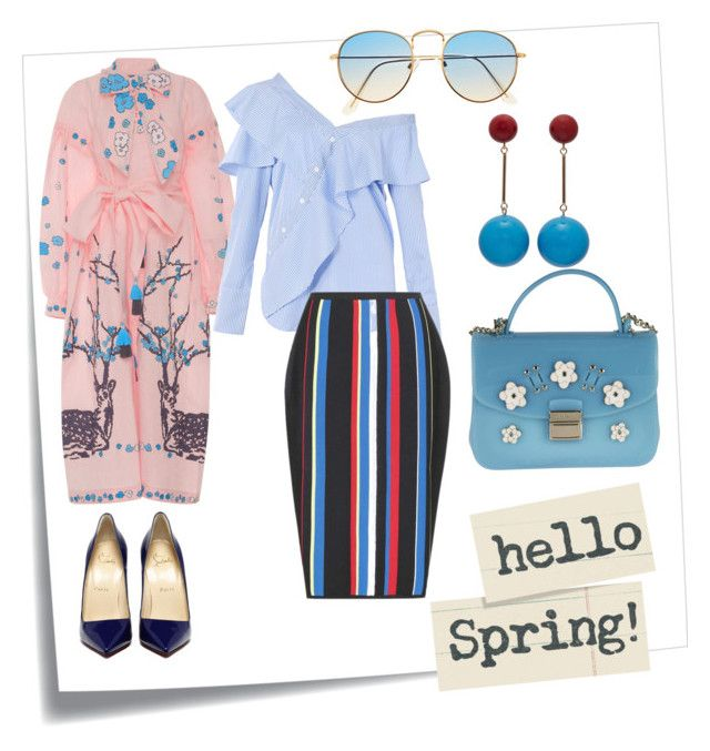 """Hello spring"" by poletaeva-anna on Polyvore featuring мода, Post-It, Yuliya Magdych, FAIR+true, Versace, J.W. Anderson и Furla"