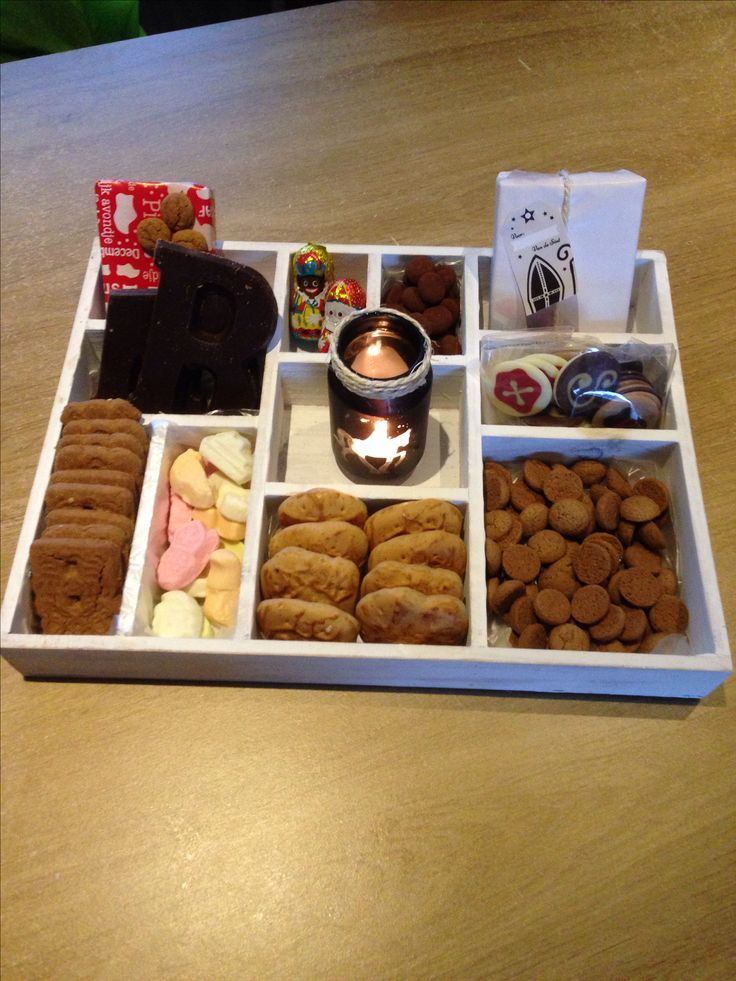 Sinterklaas lekkers. What a nice way to display all those sweets and cookies!