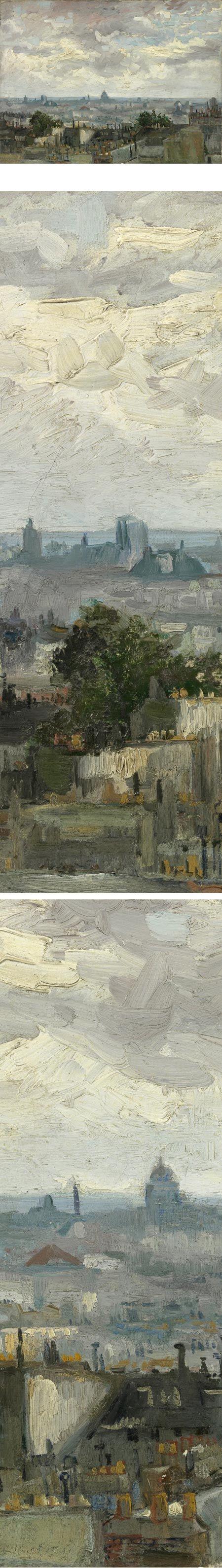 View of Paris, Vincent van Gogh. This is a wonderful Van Gogh work that is new to me. Wonderful handling of the brush.