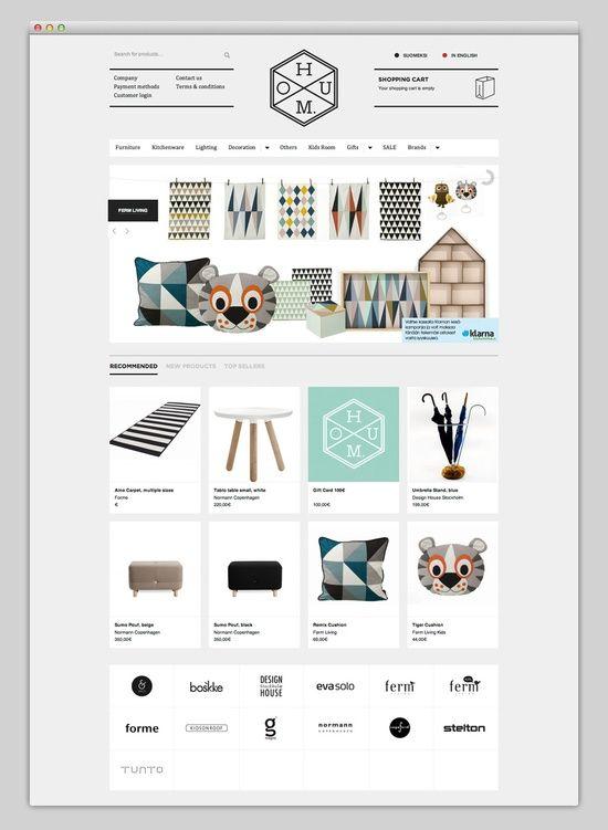 Simple, clean ecommerce website