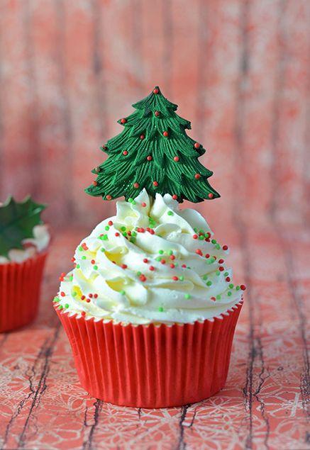 Cupcakes de Natal. #decor