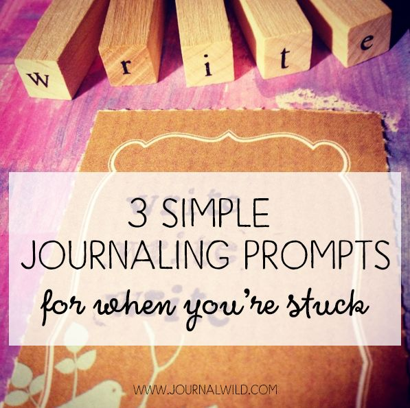 Many of us want to create a regular journaling routine but worry about what to say. Here's a a few simple journaling prompts to get you started.